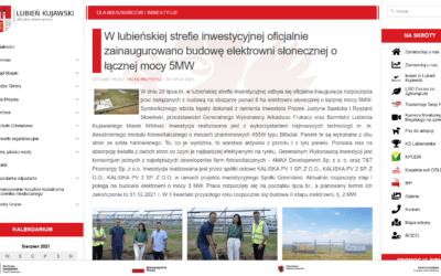 NASZ PARTNER 4MAX DEVELOPMENT, ROZPOCZĄŁ BUDOWĘ KOLEJNEGO PARKU SOLARNEGO 5 MW